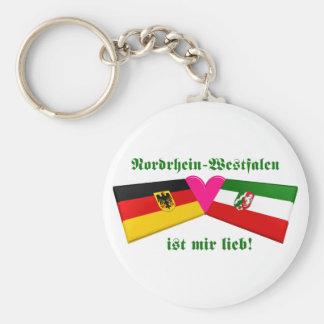 I Liebe-Nordrhein-Westfalen ist-MIR lieb Standard Runder Schlüsselanhänger