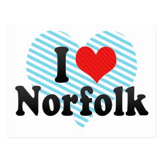 I Liebe Norfolk Postkarte