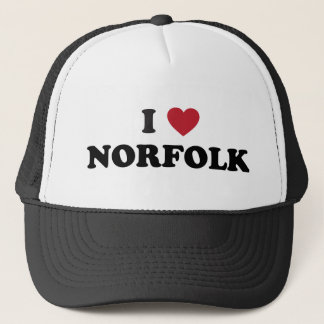 I Liebe Norfolk Virginia Truckerkappe