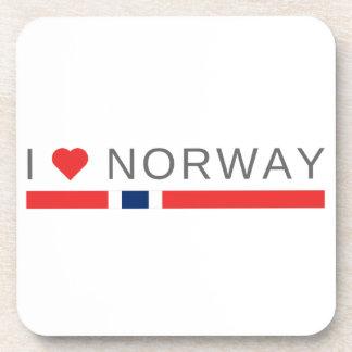 I Liebe Norwegen Getränkeuntersetzer