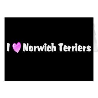 I Liebe-Norwich-Terrier Karte