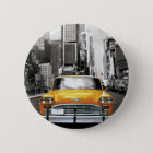 I Liebe NYC - New- Yorktaxi Runder Button 5,7 Cm