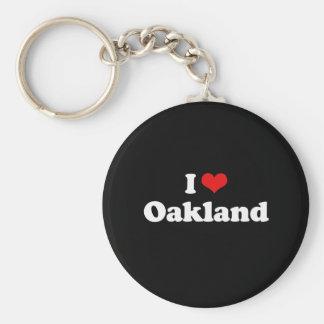 I Liebe-Oakland-T-Shirt Weiß-T-Shirt Schlüsselanhänger