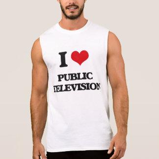 I Liebe-Öffentlichkeits-Fernsehen Ärmellose Shirts