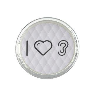I Liebe-Ohr-Arten Foto Ringe