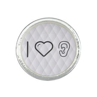 I Liebe-Ohr-Arten Foto Ring