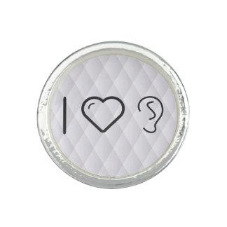 I Liebe-Ohr-Symbole Ringe