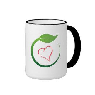 I Liebe Öko-Grün Ringer Tasse