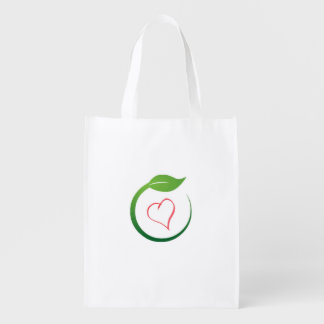 I Liebe Öko-Grünes recycelndes Bages Einkaufstaschen