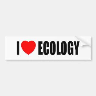 I Liebe-Ökologie Autoaufkleber