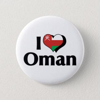 I Liebe-Oman-Flagge Runder Button 5,7 Cm