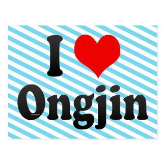 I Liebe Ongjin, Korea. Naega Salang Ongjin, Korea Postkarte
