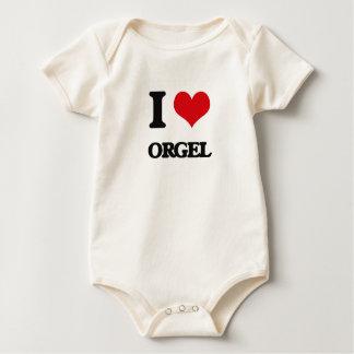 I Liebe ORGEL Baby Strampler