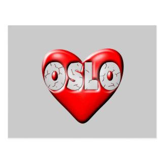 I Liebe Oslo Norwegen Postkarte