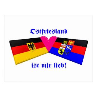 I Liebe Ostfriesland ist-MIR lieb Postkarte