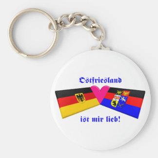 I Liebe Ostfriesland ist-MIR lieb Standard Runder Schlüsselanhänger
