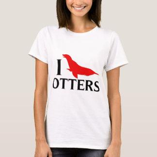 I Liebe-Otter, i-Liebe-Seelöwen T-Shirt