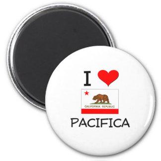 I Liebe PACIFICA Kalifornien Runder Magnet 5,1 Cm