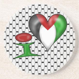 I Liebe Palästina Sandstein Untersetzer