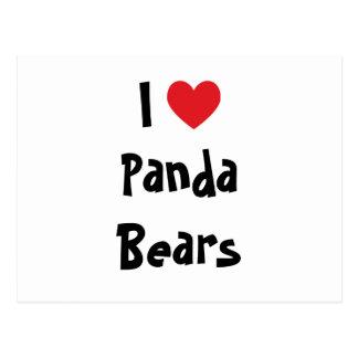I Liebe-Panda-Bären Postkarte
