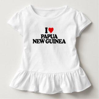 I LIEBE PAPUA-NEU-GUINEA KLEINKIND T-SHIRT