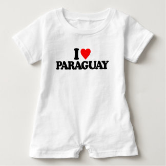 I LIEBE PARAGUAY BABY STRAMPLER