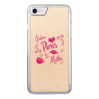 I Liebe Paris am Morgen - Hörnchen-Café Carved iPhone 8/7 Hülle