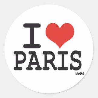 I Liebe Paris Aufkleber