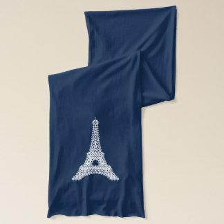 I Liebe Paris - Eiffel-Turm-Spitze-Muster Schal