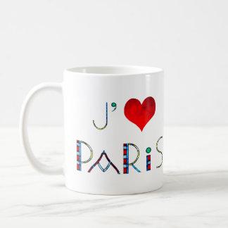 I Liebe Paris in beflecktem Glas Notre Dame Kaffeetasse