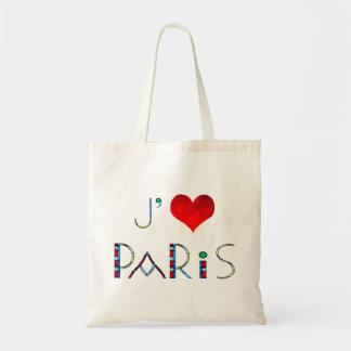 I Liebe Paris in beflecktem Glas Notre Dame Tragetasche