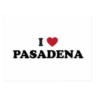 I Liebe Pasadena Kalifornien Postkarte