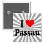 I Liebe Passau, Deutschland. Ich Liebe Passau, Deu Buttons