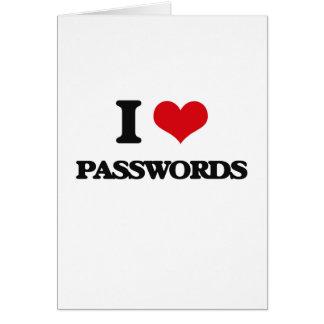 I Liebe-Passwörter Karte