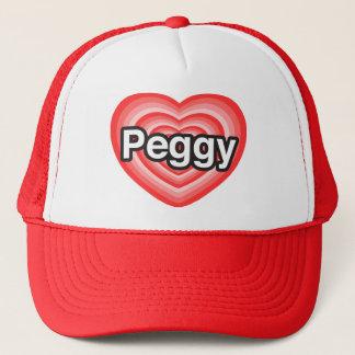 I Liebe Peggy. Liebe I Sie Peggy. Herz Truckerkappe