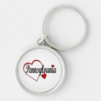 I Liebe-Pennsylvania-Herz-Prämie Keychain Schlüsselanhänger