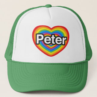 I Liebe Peter. Liebe I Sie Peter. Herz Truckerkappe