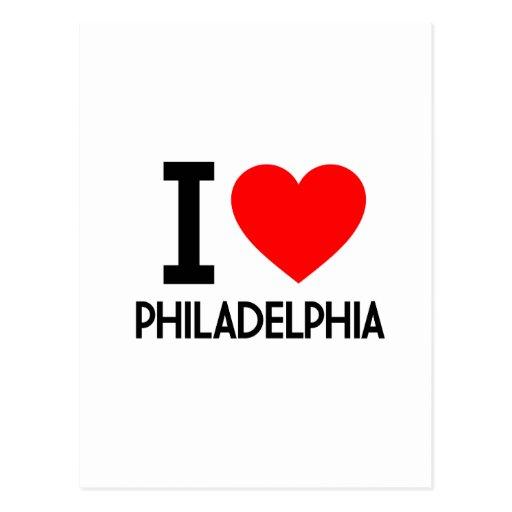 I Liebe Philadelphia Postkarte