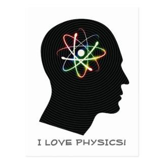 I LIEBE-PHYSIK   Geek Postkarte