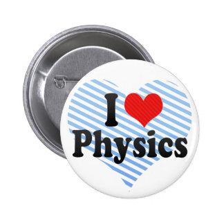 I Liebe-Physik Runder Button 5,1 Cm