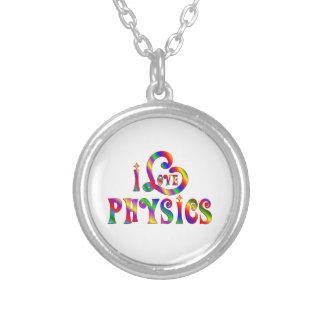 I Liebe-Physik Versilberte Kette