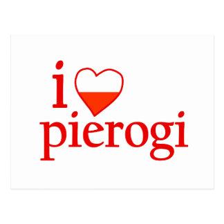 I Liebe Pierogi Postkarte