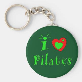 I Liebe Pilates Keychain Schlüsselanhänger