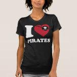 I Liebe Pirat-Klassisches Iheart mit Augenflecken T Shirt