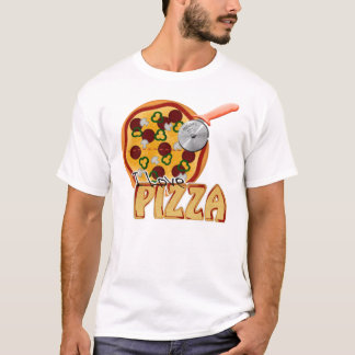 I Liebe-Pizza - Gemisch-Wecker-T - Shirt