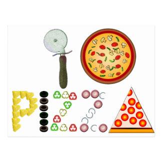 I Liebe-Pizza Postkarte