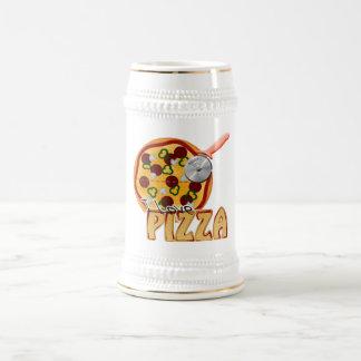 I Liebe-Pizza - Stein Bierglas