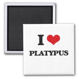 I Liebe Platypus Quadratischer Magnet
