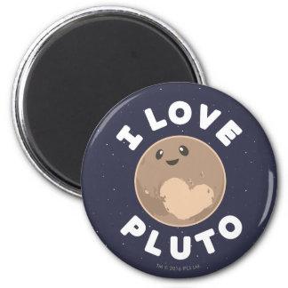 I Liebe Pluto Runder Magnet 5,7 Cm