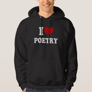 I Liebe-Poesie Kapuzensweater